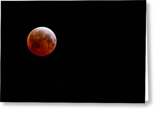 Passover Moon Greeting Cards - Passover Blood Moon 2015 Greeting Card by Roger Reeves  and Terrie Heslop