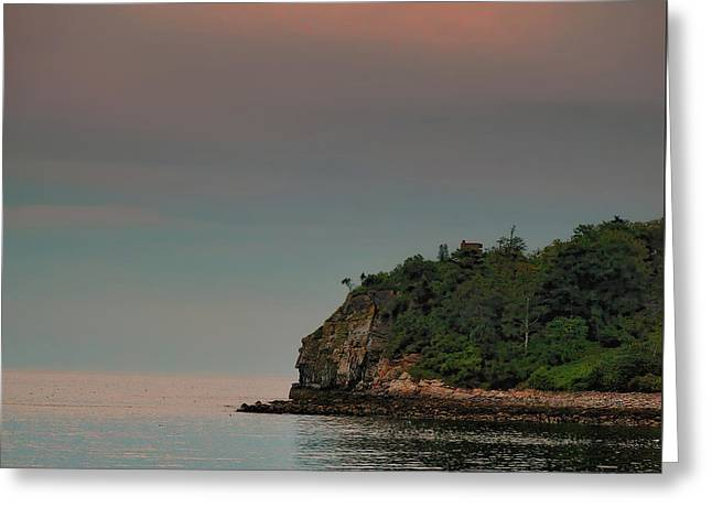 Coastal Maine Greeting Cards - Past Your Jutting Head Greeting Card by Richard Bean