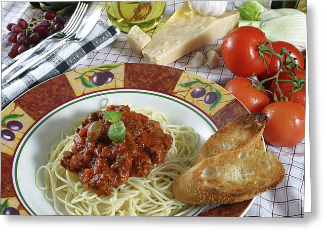 Supper Bowl Greeting Cards - Pasta Dish 2 Greeting Card by Jack Dagley