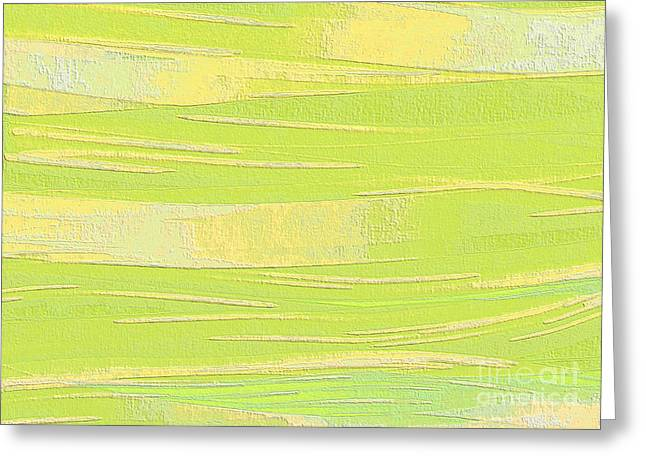Improvisation Greeting Cards - Pastel Acrylic Flowed onto Canvas Greeting Card by Ed Churchill