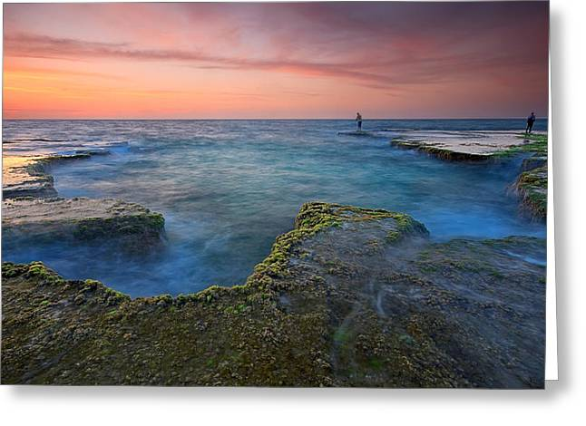 Beach Landscape Greeting Cards - Pastel Colors Greeting Card by Amnon Eichelberg