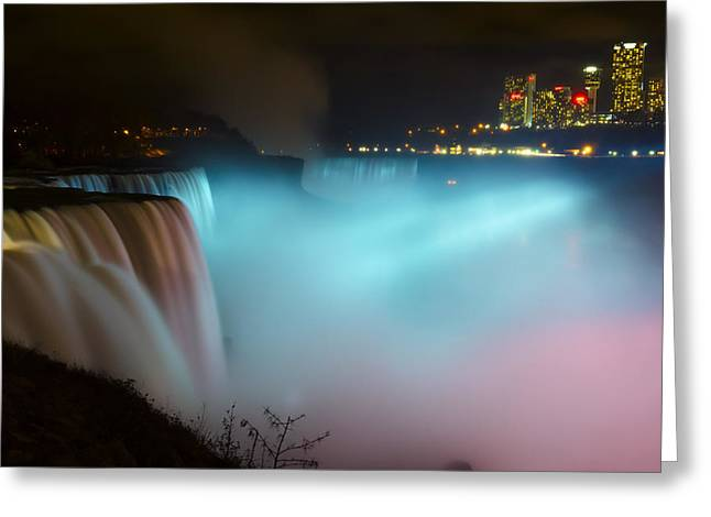 Western Canada Landscape Art Greeting Cards - Pastel Falls Greeting Card by Mark Papke