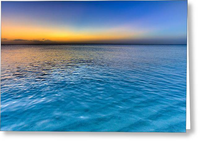Sea And Sky Greeting Cards - Pastel Ocean Greeting Card by Chad Dutson