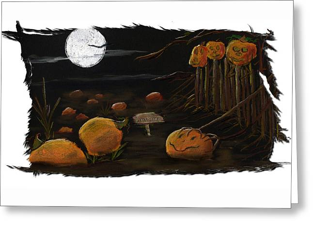 Halloween Pastels Greeting Cards - Pastel On Paper Greeting Card by Barbara Gulotta