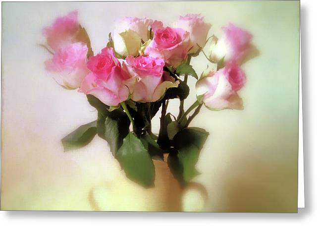 Pastel Petals Greeting Card by Jessica Jenney