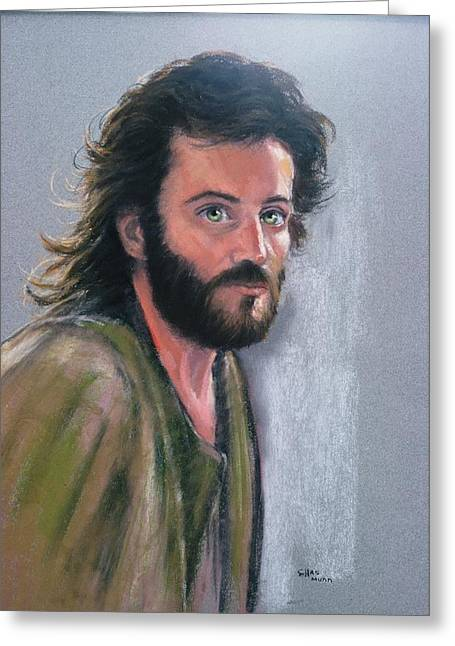 Acting Paintings Greeting Cards - Pastel portrait of an actor Greeting Card by Charles Munn