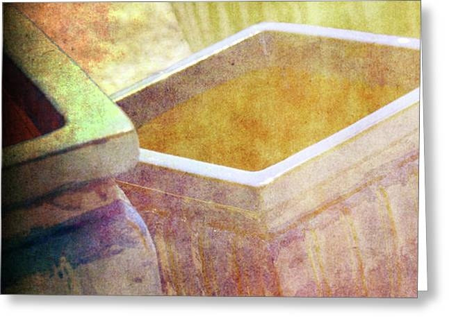 Pastel Pottery Greeting Card by Susanne Van Hulst