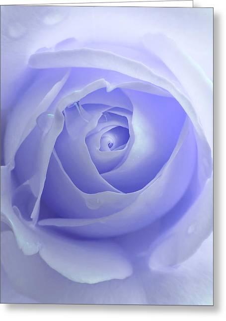 Pastel Purple Rose Flower Greeting Card by Jennie Marie Schell