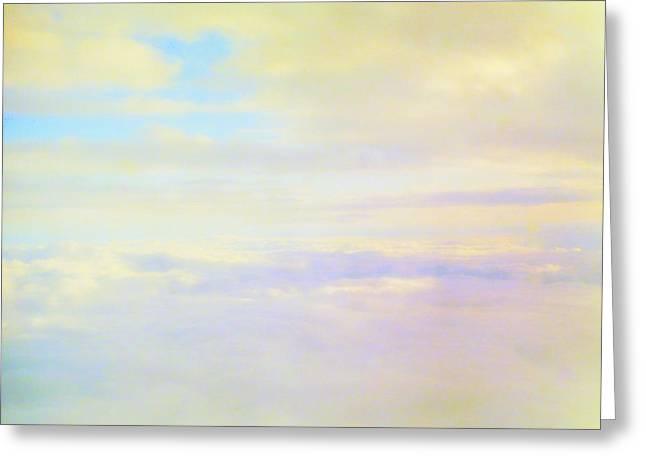 Sunset Framed Prints Greeting Cards - Pastel Sky Greeting Card by Deborah  Crew-Johnson
