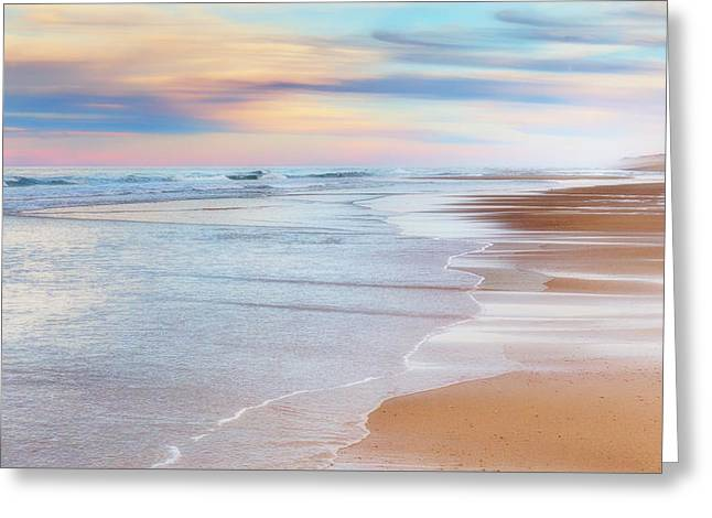 Ocean Greeting Cards - Pastel Sunset Greeting Card by Bill Wakeley