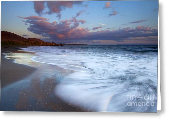 Pastel Sunset Tides Greeting Card by Mike Dawson