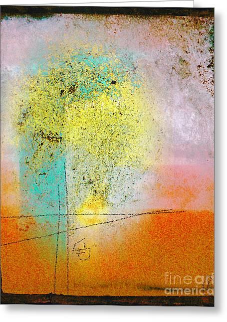 Anahi Decanio Mixed Media Greeting Cards - Pastel Window Abstract Greeting Card by Anahi DeCanio