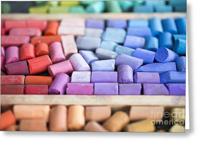 Pastels Greeting Card by Edward Fielding