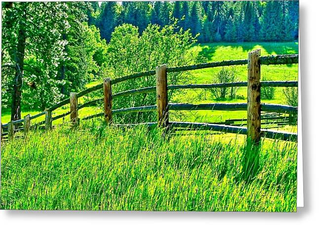 Pastureland Greeting Card by Brent Sisson