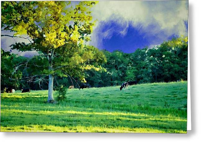 Tennessee Farm Digital Greeting Cards - Pasturized Greeting Card by Jan Amiss Photography