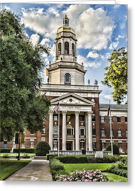 Waco Greeting Cards - Pat Neff Hall - Baylor #4 Greeting Card by Stephen Stookey