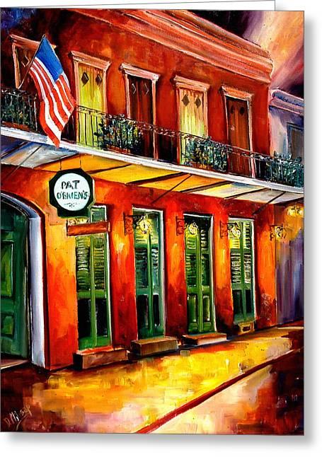 Pat O Briens Bar Greeting Card by Diane Millsap