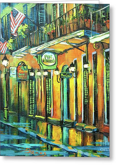 Street Artist Greeting Cards - Pat O Briens Greeting Card by Dianne Parks