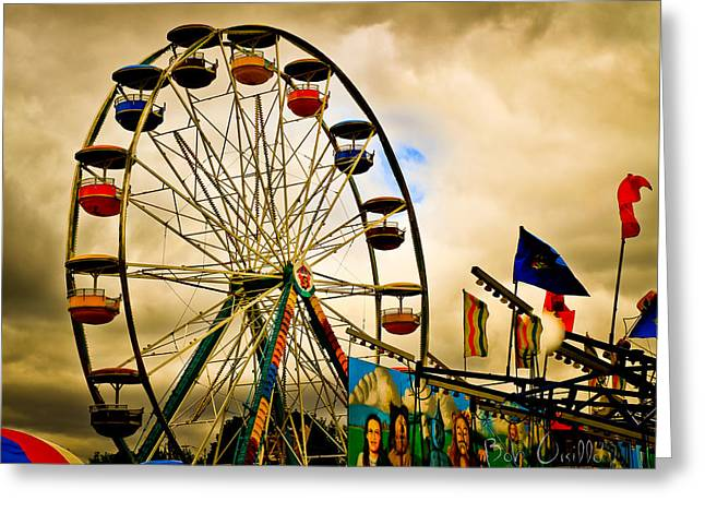 Ferris Wheel Greeting Cards - Patch of Blue Greeting Card by Bob Orsillo