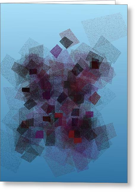 Generative Abstract Greeting Cards - Patch Works 7-25-2015 #3 Greeting Card by Steven Harry Markowitz