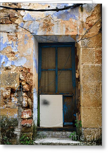 Teruel Greeting Cards - Patched door Greeting Card by RicardMN Photography