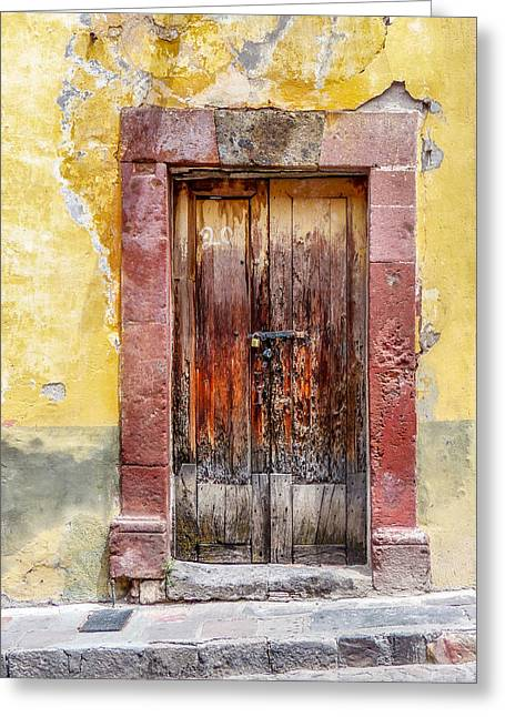 Patch Greeting Cards - Patched Wood Door Greeting Card by Douglas J Fisher