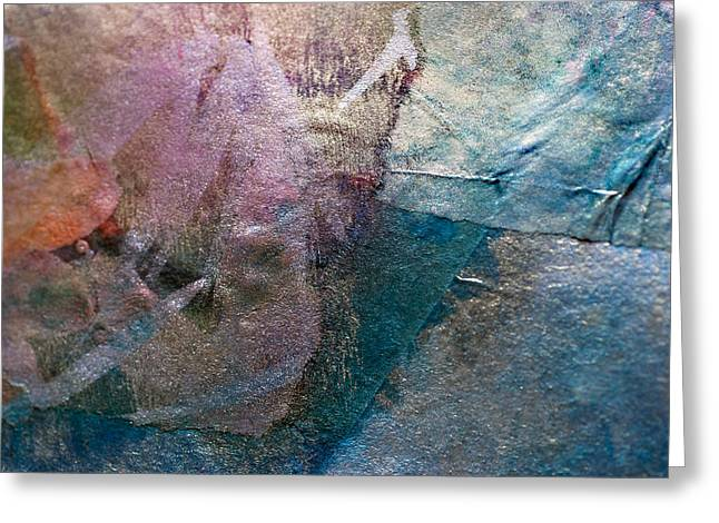 Merged Mixed Media Greeting Cards - Patchwork Greeting Card by Don  Wright