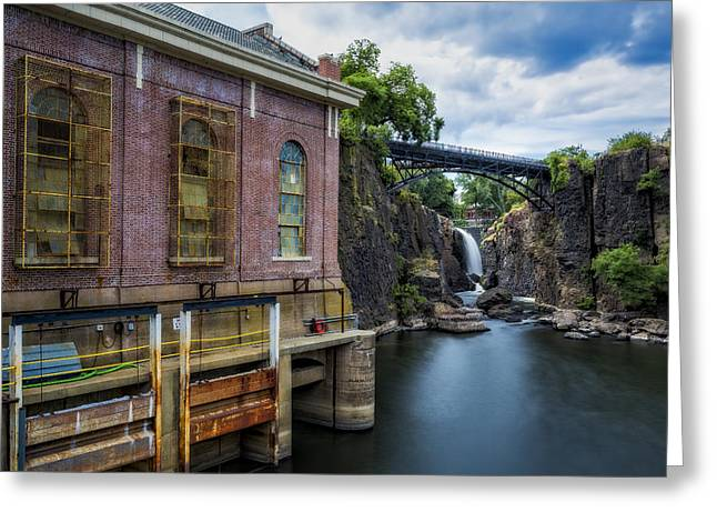 Power Plants Greeting Cards - Paterson Great Falls II Greeting Card by Susan Candelario