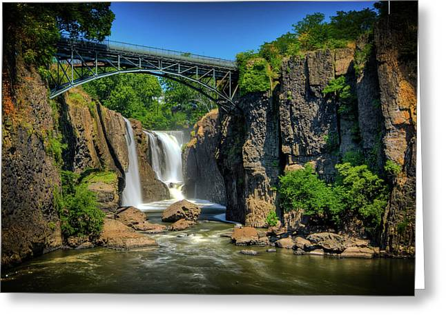 """great Falls"" Greeting Cards - Patersons Great Falls I Greeting Card by David Hahn"