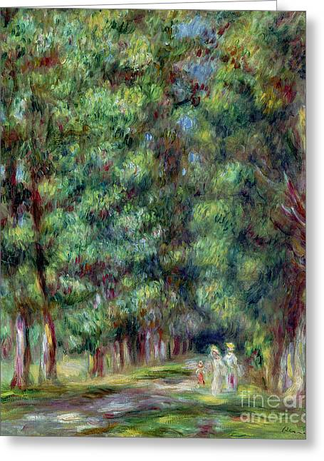 Bois Greeting Cards - Path in a Wood Greeting Card by Pierre Auguste Renoir