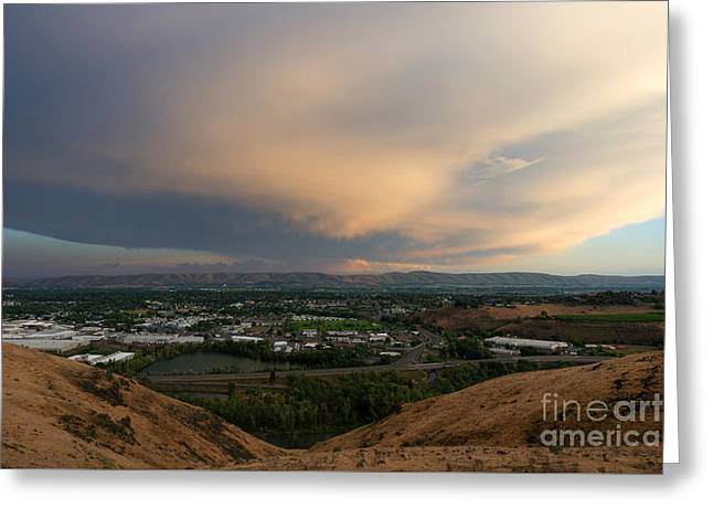 Thunderstorm Greeting Cards - Path of the Storm Greeting Card by Mike Dawson