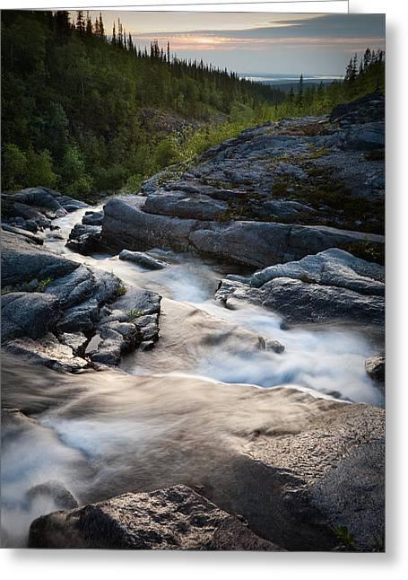 Path Of Water Greeting Card by Konstantin Dikovsky