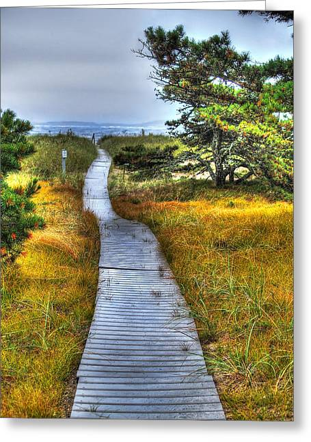 Maine Beach Greeting Cards - Path to Bliss Greeting Card by Tammy Wetzel