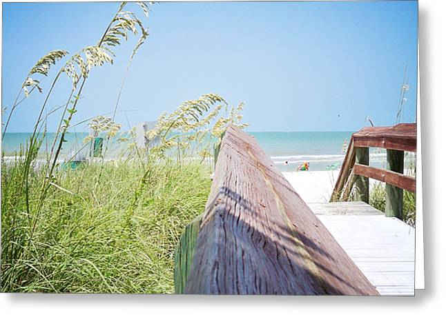 Path to Relaxation Vanilla Pop Greeting Card by Chris Andruskiewicz