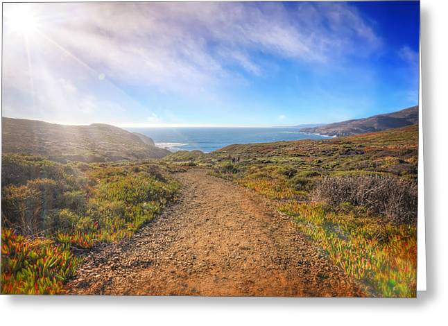 Marin County Greeting Cards - Path to South Rodeo Beach - Marin County California #1 Greeting Card by Jennifer Rondinelli Reilly