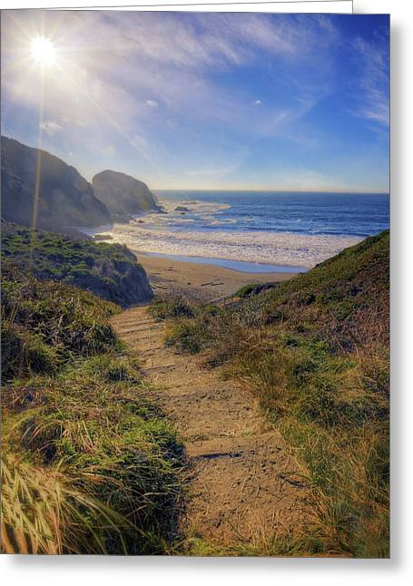 Marin County Greeting Cards - Path to South Rodeo Beach - Marin County California #3 Greeting Card by Jennifer Rondinelli Reilly