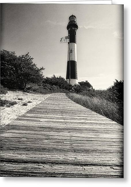 Robert Moses Greeting Cards - Path to the Lighthouse Greeting Card by George Oze
