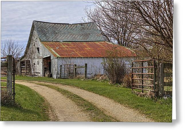 Path To The Old Barn Greeting Card by William Sturgell