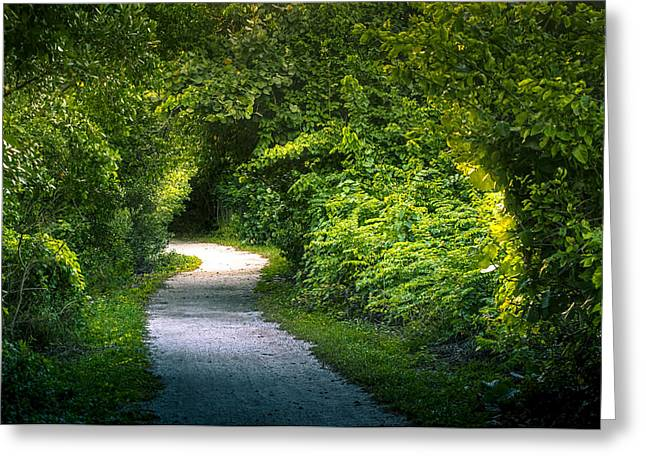 Path To The Secret Garden Greeting Card by Marvin Spates