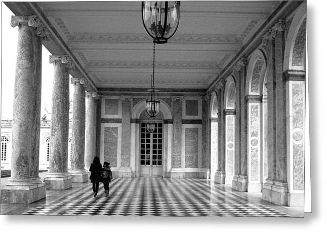 Trianon Greeting Cards - Paths of Trianon Greeting Card by Comanescu Roxana