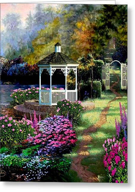 A Summer Evening Paintings Greeting Cards - Pathway to Heaven Greeting Card by Ronald Chambers