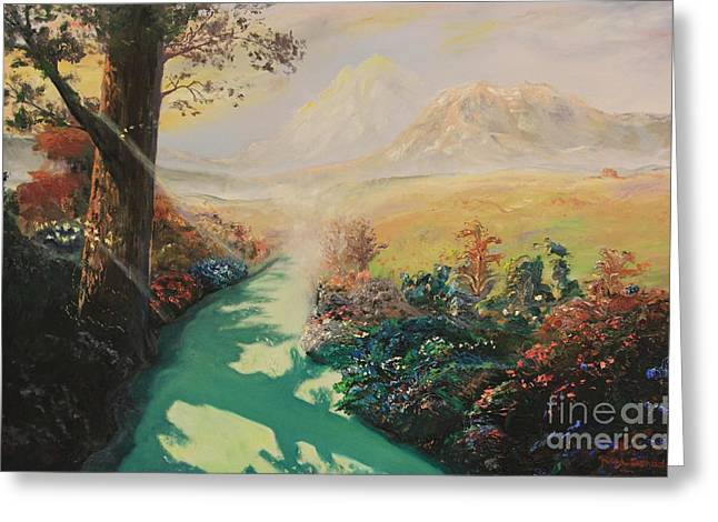 Inner Self Paintings Greeting Cards - Pathway to Peace Greeting Card by Rich Donadio