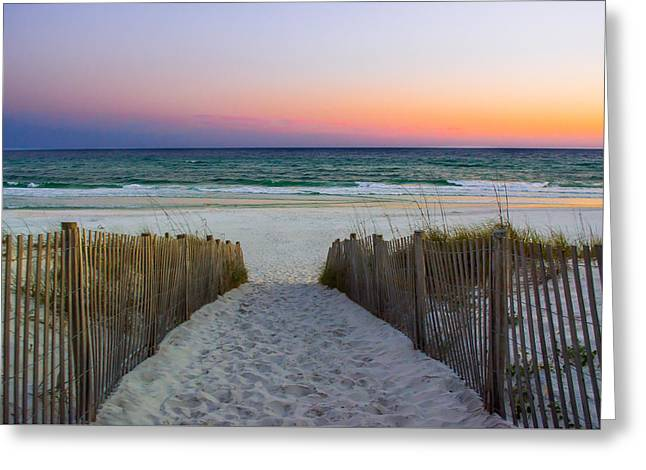 Pathway To Sunset - Seaside, Fl Greeting Card by Shelby Young