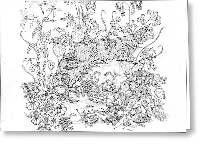 Wild Life Drawings Greeting Cards - Patience Greeting Card by Donna Genovese