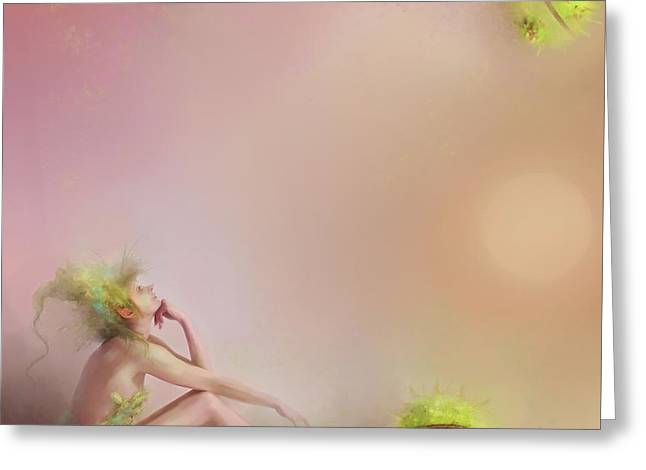 Patience....pretty In Pink Greeting Card by Joe Gilronan