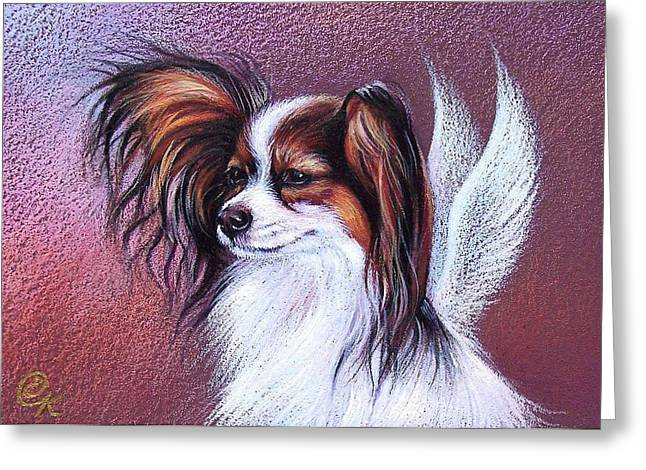Pet Angels Greeting Cards - Patient angel  Greeting Card by Elena Kolotusha