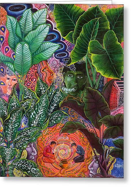Pablo Amaringo Art Cards Greeting Cards - Patinguina Samai  Greeting Card by Pablo Amaringo