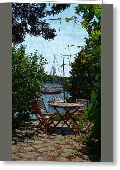 Patio Table And Chairs Photographs Greeting Cards - Patio Dining Greeting Card by Harriet Harding