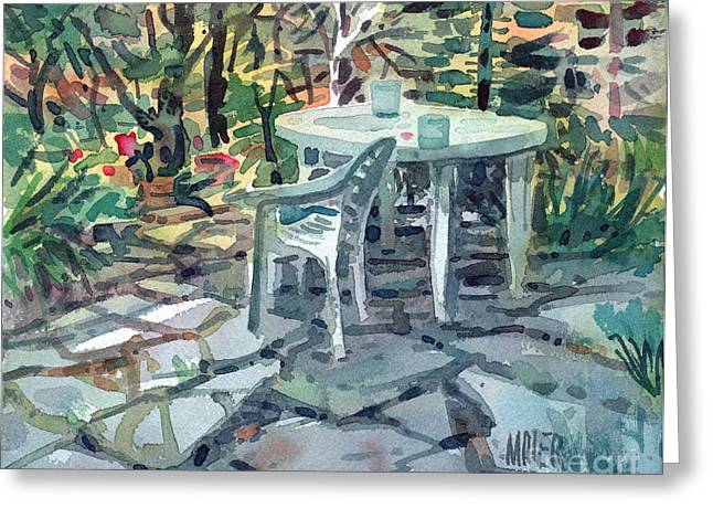 Patio Greeting Cards - Patio Greeting Card by Donald Maier