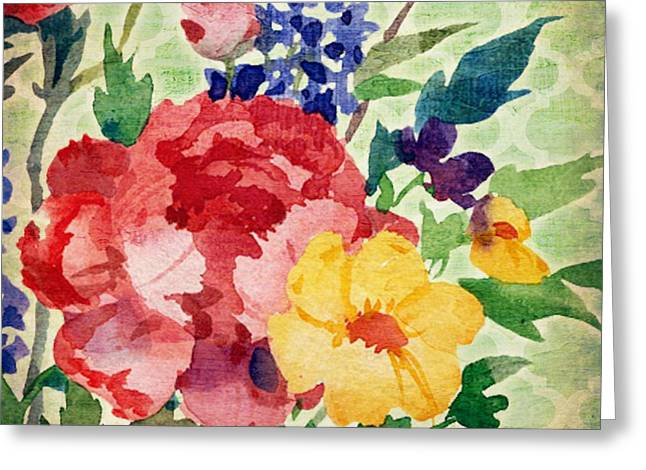 Patio Greeting Cards - Patio Peony I Greeting Card by Paul Brent